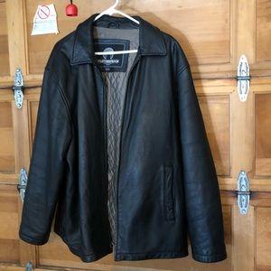 Vintage Weatherproof men's leather jacket